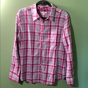 Pink and grey flannel!
